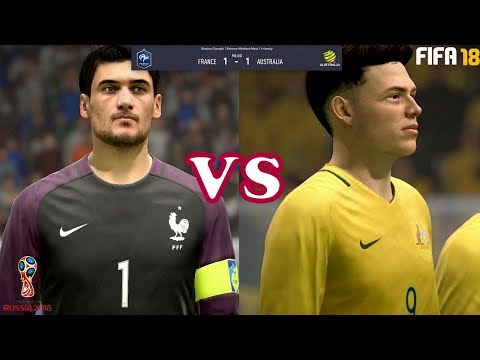 FIFA 18 new walkthrough gameplay#4- Australia vs France-FIFA  World Cup Russia 2018 prediction