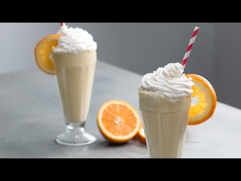 Boozy Orange 50/50 Milkshake