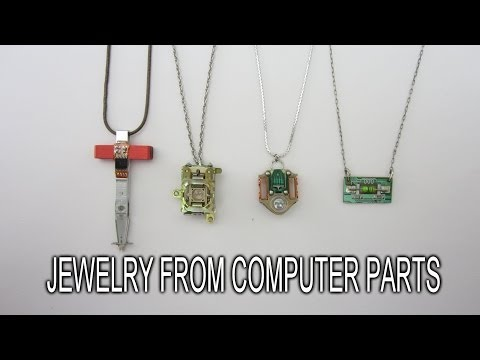 How to Make Jewelry From Old Computer Parts