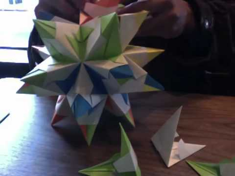 How to make an Origami Stellated Dodecahedron