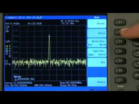 How to Measure Transmitter Frequency & Power | N9344C N9343C N9342C HSA | Keysight Technologies