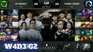 FlyQuest vs Team Liquid | Week 4 Day 3 S10 LCS Summer 2020 | FLY vs TL W4D3