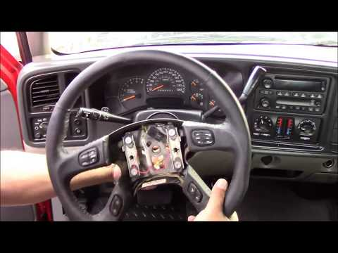 2002-2009 Chevrolet GM Truck SUV Air Bag Steering Wheel Replacement Grant 61037 Tutorial Install