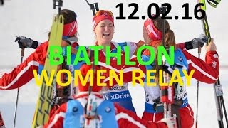 BIATHLON / WOMEN / RELAY/ 11.03.2016 / World Championship / Norway / HOLMENKOLLEN/ LIVE STREAM