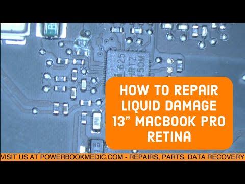 Macbook Pro Liquid Damage Repair on a 13
