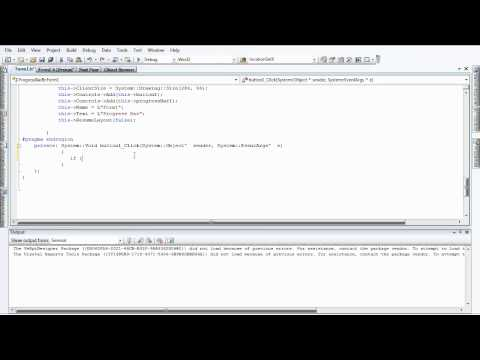 Progress Bar and Button - Visual C++
