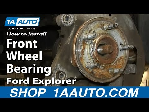 How To Install Front Wheel Bearing Hub Assembly 2002-05 Ford Explorer Mercury Mountaineer