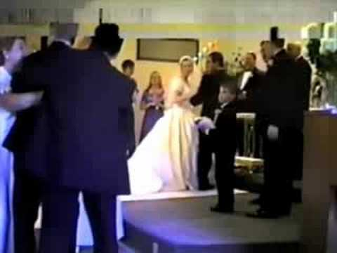 Me, fainting at my sister's wedding