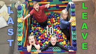 Download LAST to LEAVE the LEGO FORT BALL PIT! Video