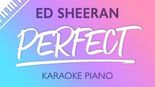 Perfect Piano Karaoke Instrumental Ed Sheeran