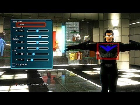 Tekken Tag Tournament 2 - How to make Nightwing's costume