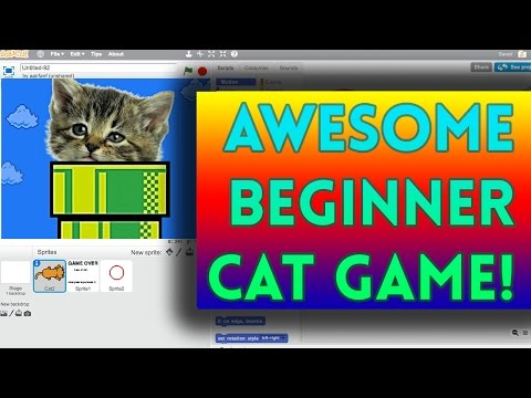 Scratch Tutorial: Awesome Beginner Cat Game!