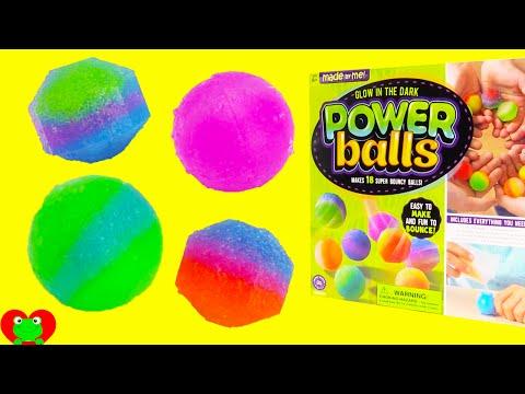 DIY Make Glow In the Dark Bouncy Power Balls