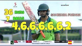 Pakistan Batsman Sahibzada Farhan 36 Runs Off 6 Balls - 32 Runs In 1 Over - HK Sixes 2017