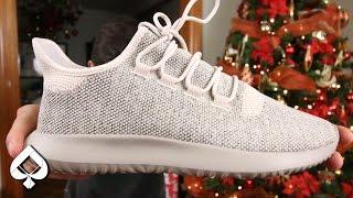 Adidas tubular sombra Knit marron claro en pies musica Jinni