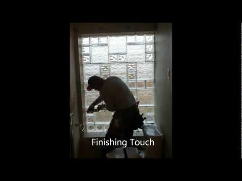 Glass Block Bathroom Window Install
