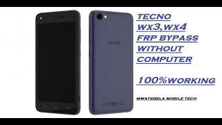 Tecno wx3 google account (frp) bypass 100% done(2019