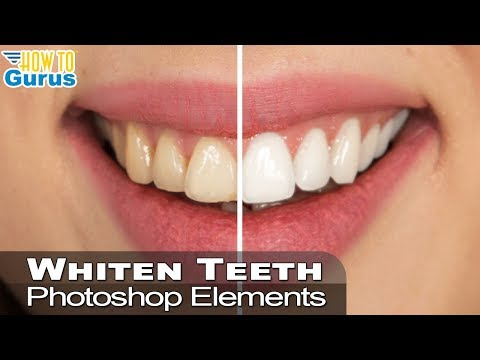 Photoshop Elements Whiten Teeth : Give your smile brighter teeth : 2018 15 14 13 12 11 Tutorial