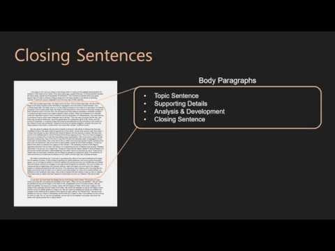 Essay Writing   Body Paragraphs   10 Closing Sentences