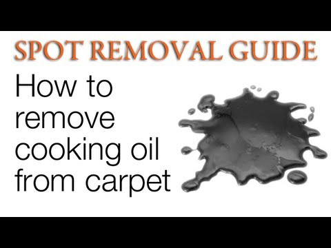 How to Remove Oil Stains from Carpet - Cooking Oil | Spot Removal Guide