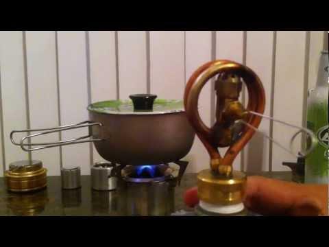 Copper Coil Alcohol Stove.