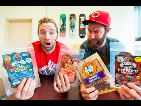 SPICY BEEF JERKY RANKING CHALLENGE | World's Hottest Peppers