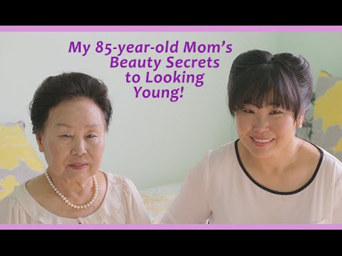 My 85-Year-Old Mom's Beauty Secrets to Looking Young!
