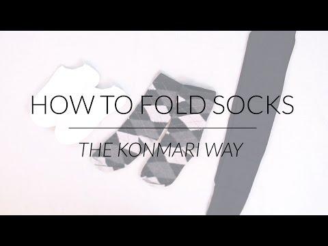 How to Fold Socks & Stockings | KonMari Method by Marie Kondo