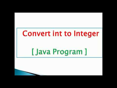 how to convert primitive int to integer object in java Example