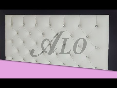 DIY: TUFTED HEADBOARD WITH CRYSTALS - ALO Upholstery