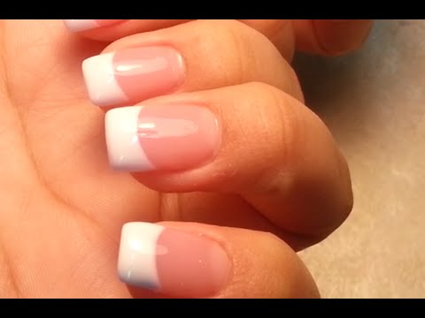 Pretty Easy Way to-do Pink and White Acrylic Nails