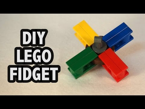 Make Your Own Lego Fidget Spinner Tutorial Diy How To Instructions