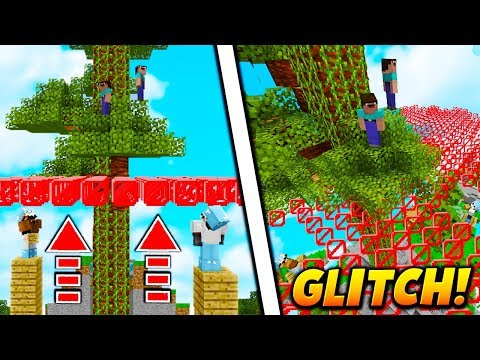 GIANT TREE BORDER GLITCH! - Minecraft SKYWARS TROLLING (UNBREAKABLE!)