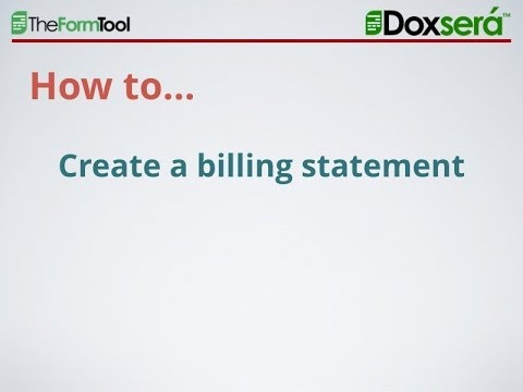 How to Create a Simple Billing Statement in Word