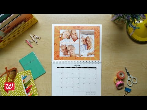 Create Personalized Wall Calendars at Walgreens