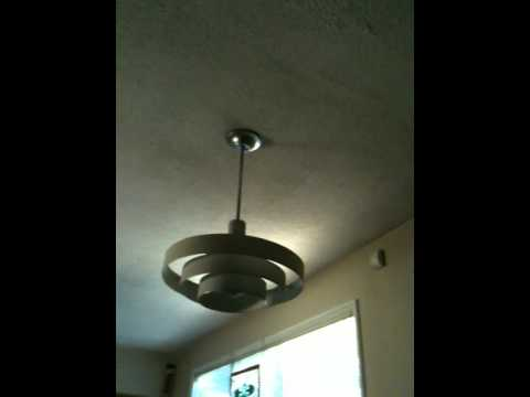 Space age Dining room light with shaded mogul base bulb