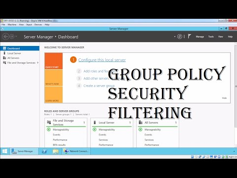 MCSA 70-410 18. Group Policy Security Filtering