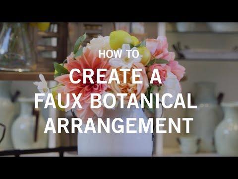 How to Create a Faux Botanical Arrangement