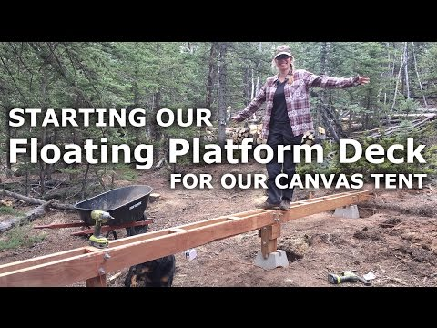 Update on Floating Deck Platform - Creating Beams & Leveled Footings - Our Journey :: Episode #44