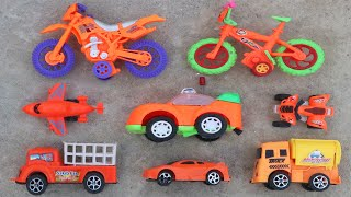 Looking for Some Orange Toy Vehicles In an Abandoned Rooftop at Night with Torch Light | KidsToys TV