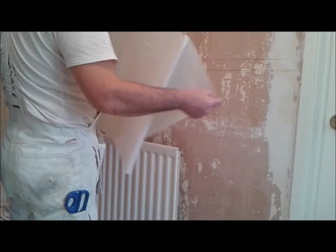 How to hang lining paper behind a radiator