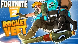THE ROCKET RIDE YEET!!!! Throwing enemies everywhere! - FORTNITE 2 (Funny Moments)