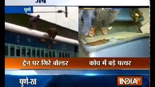 Mumbai: 3 passengers injured as boulder falls on Hubli Lokmanya Tilak Terminus Express