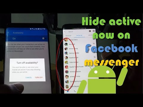 How to hide active now on Facebook messenger Android 2018