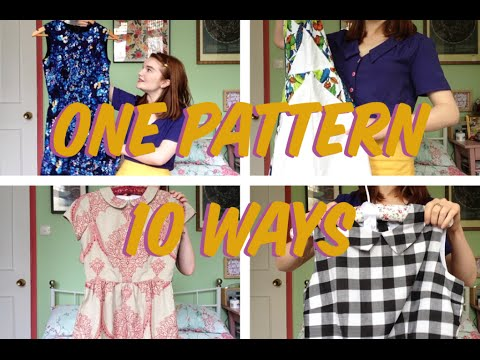 One Sewing Pattern 10 ways: DIY dress collection