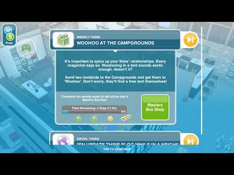 The Sims Freeplay - Woohoo at the Campgrounds - Weekly Task