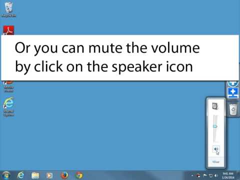 How to adjust and mute the system volume in Windows 7
