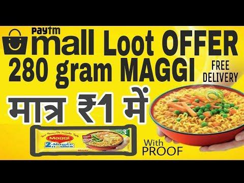 Maggi at Rs. 1 🍝 • 1 रुपए में मैगी • Buy 280 gram Maggi at Rs. 1 • Paytm Mall Offer • V Talk
