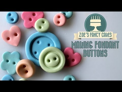 Making fondant buttons How To Cake Decorating Turorial