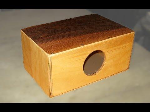 How to make a Mini Cajon - Cajonito // DIY // How-To